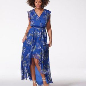 VINCE CAMUTO Floral-Print High/Low Dress New